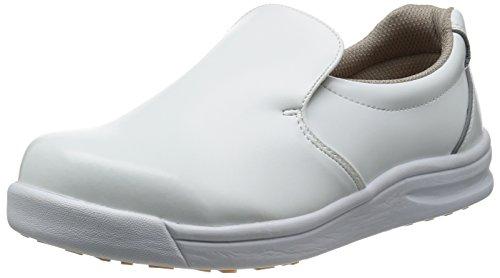 [ノサックス] 厨房靴 コックシューズ 耐滑 軽量 グリップキング GKW-W メンズ 白 26.5cm(26.5cm)