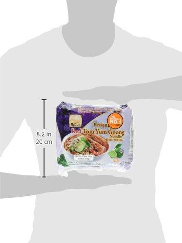 MyKuali Penang Tom Yum Noodle (4 Pack x 3.7 oz each)