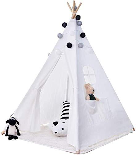 Children's Tent Kids Playhouse Tepee Tents Indoor/Outdoor Play/Great For Read Children's Tent Play Tents (Color : White, Size : ONE SIZE),Size:One Size,Colour:White ( Color : White , Size : One Size )
