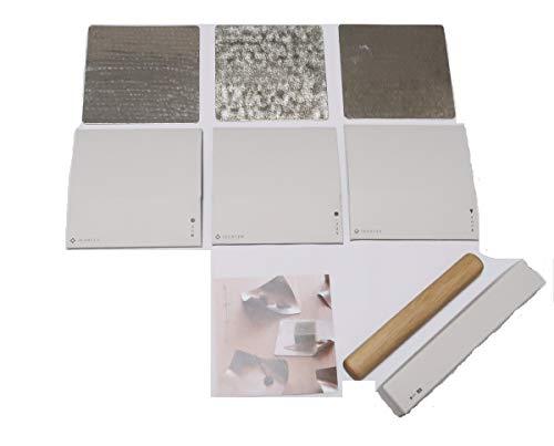 すず紙 小皿 プレート syouryu すずがみ 錫製うつわ 13X13 3種 コロ 桐箱 セット