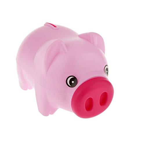 XZJJZ Piggy Bank-Plastic Piggy Bank-Münzen-Einsparung Pot Geldsammler Saving Box Schwein Spielzeug
