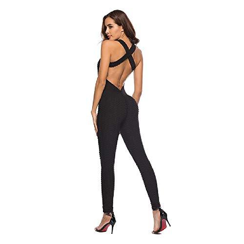 nobrand Yoga-Sets Fitness-Kleidung Damen Einteiler Sportanzug-Set Workout-Fitnessstudio Fitness-Jumpsuit-Hose Sexy Yoga-Set Fitnessstudio-Body