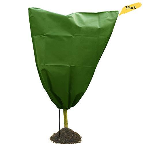 Housse de protection pour plantes - Pour l'hiver - Protection contre le gel et les insectes - 60 g/m² - Vert