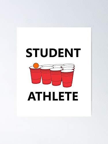 Funny Student Athlete Beer Pong Shirt Drinking - Para decoracin de oficina, colegios de Dorm, Teachers, Classroom, Gym Workout and School Halloween, Holiday, Christmas Party !