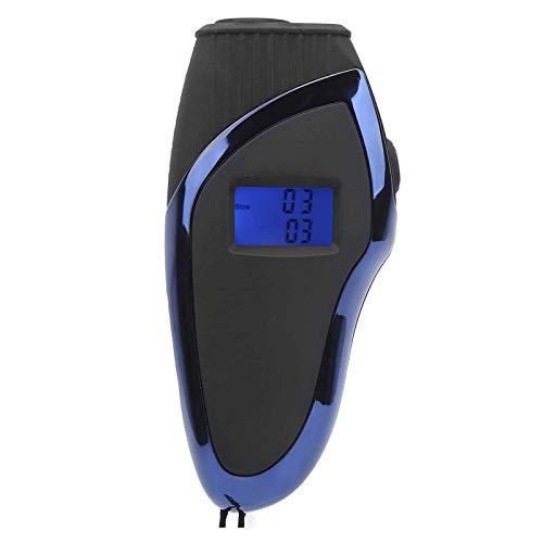 Adesign Alcoholímetro de Alcohol y probador de Aliento portátil con Pantalla LCD Digital y Resultados de Contenido de Alcohol en Sangre rápidos y precisos, 10 boquillas Desechables para Limpiar