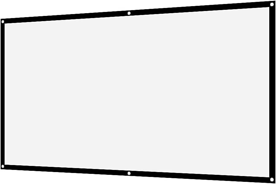 DONN Projection Screen, 16:9 Projection Screen Front Projection Durable Portable for Outdoor Camping Movieopen-air Cinema for Front Projection(100 inches)