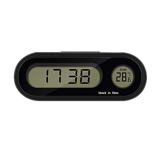 SOOTOP Auto Uhr, Auto Digital Uhr mit Thermometer Mini Fahrzeug Armaturenbrett Uhr Innendekoration Armaturenbrett Ornament (Auto Digital Uhr Thermometer)