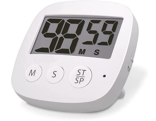 Digital Kitchen Timer ECOHOMN Cooking Timer Magnetic Countup & Countdown Timers with 3' Large Display Loud Alarm for Kitchen Teachers Students Games Kids Sports Meetings
