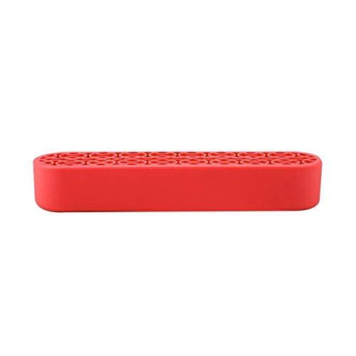 Nail Pen Holder Soporte de exhibición estable Herramientas de manicura para uso en el hogar para herramientas de manicura para salón para pluma de uñas (rojo)