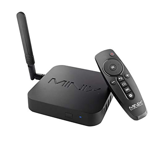 MINIX Android 9.0 Pie Media Hub 4K Ultra HD HDR10+4GB DDR4/32GB eMMC HDMI 4K @ 60Hz 3 x USB 3.0 USB-C [sólo datos] GLAN AC Wi-Fi TF Card (NEO U22-XJ)