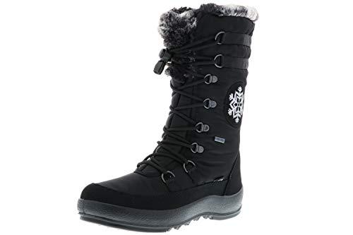 Vista Damen Winterstiefel Snowboots schwarz, Größe:39, Farbe:Schwarz