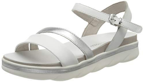 MARCO TOZZI 2-2-28512-24, Sandali con Cinturino alla Caviglia Donna, Bianco White Nappa Core 177, 39 EU