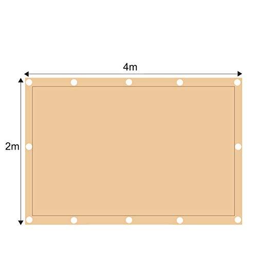 ZJDU Sonnensegel Canopy Rechteck Sand, Sonnensegel UV-Block Für Patio Garden Outdoor-Anlage Und Aktivitäten,2x4m