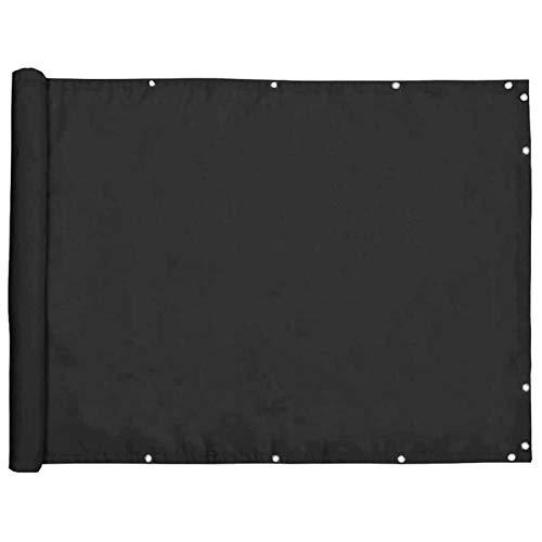 YIFANDU Pantalla de Privacidad 0.85x5m Protección UV Lona de Ocultación Fácil Instalación para áreas de Piscina y Jardines, Negro