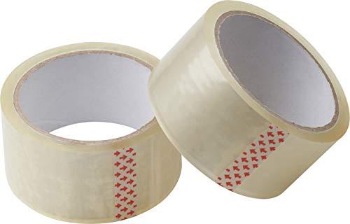Meister Klebeband 45 m x 48 mm - transparent - 2er Set - für Päckchen, Umzugs-Kartons und Verpackung -zuverlässiger Verschluss - gute Klebkraft / Paketband / Packband / Paketklebeband / Kleberolle / 4241110