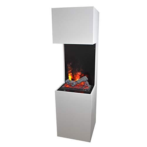 Elektrokamin Raumteiler - GLOW FIRE Opti-myst Beethoven, Wasserdampf Feuer, elektrischer Standkamin mit Fernbedienung, regelbare Flammenstärke (Beethoven)