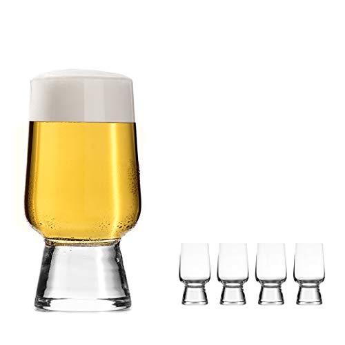 oha-design Craft-Beer-Set [4er Set] Universalgläser für Craft-Bier wie Pale Ale, Pils, Wit | 4-teilig 290-ml | Gin Tonic Gläser Set - Whiskey Glas - Weingläser Weisswein | Bier Geschenk Männer