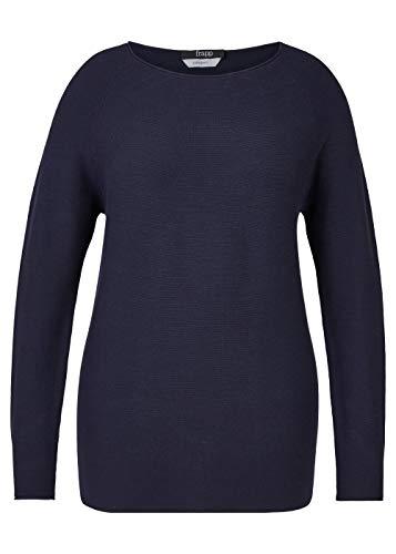 Frapp Damen Trendiger Strick-Pullover mit Raglan-Ärmeln