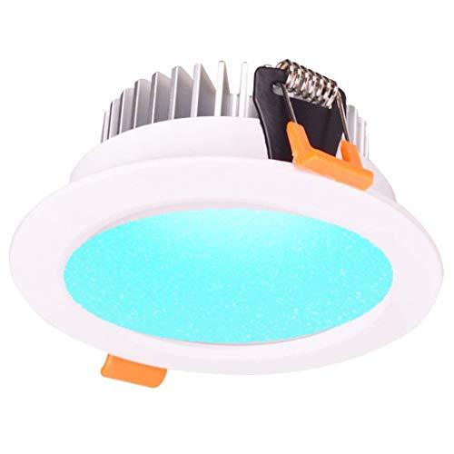El downlight LED Smart ZigBee RGBW de 12 vatios funciona con Echo Plus y ZigBee Hub compatible para el control de voz Alexa de domótica