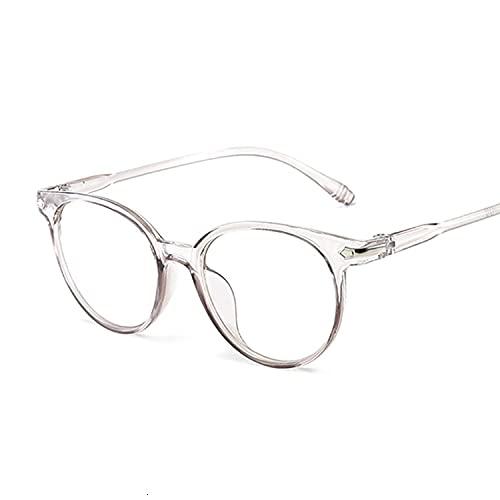 FEIHAIYANY Gafas de sol para mujer con montura para gato, lentes transparentes para mujer, gafas de ordenador retro (color del marco: gris)