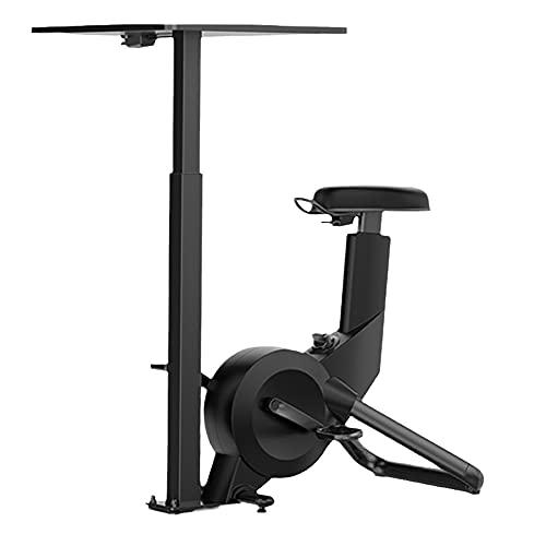 Heimtrainer, Aerobic-Training, Riemenantrieb, Pulsmesser, Flexibler Gurt, Magnetwiderstand, Tablet-Halterung, Schwarz (Color : Black)