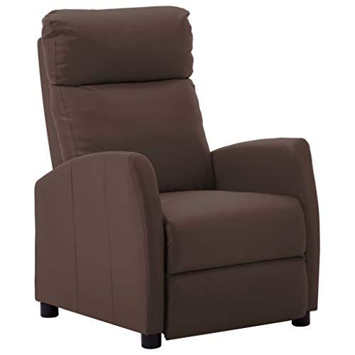 vidaXL Liegesessel Relaxsessel Fernsehsessel TV Sessel Ruhesessel Polstersessel Relaxliege Loungesessel Ledersessel Braun Kunstleder