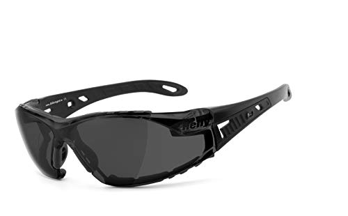 Helly® - No.1 Bikereyes® | H-FLEX® - onbreekbaar, beslagvrij, HLT® kunststof veiligheidsglas volgens DIN EN 166 | bikerbril, motorbril, multifunctionele bril | brilmontuur: zwart maat