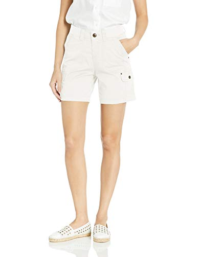 LEE Women's Flex-to-go Relaxed Fit Cargo Short, White, 14