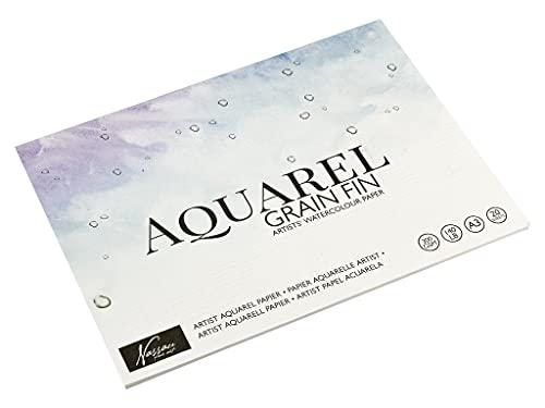 Art Sensations Aquarell Papier DIN A3 Für Künstler   20 Einzelne Blätter   Stärke: 300 g/m²   Premium Aquarellpapier zum Malen mit Aquarellfarben & Mischtechniken   Qualitätspapier für Perfekte Farben