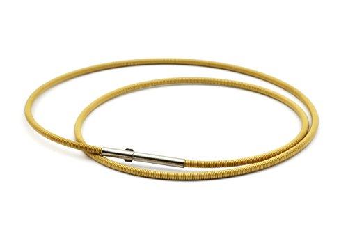 Heideman Halskette Damen Linea 1 aus Edelstahl Gold farbend matt Kette für Frauen mit Doppeclip Verschluss Collier für Charms und Schmuck Anhänger Länge 42cm