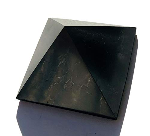 Pirámide de shungita, 4 x 4 cm, piedra curativ