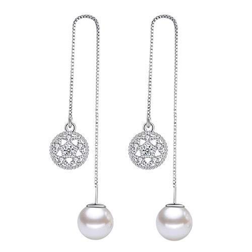 Lotusförmige Ohrringe, versilberte Ohrringe mit Fransen aus Temperament, Abendkleid mit 11cm Silber