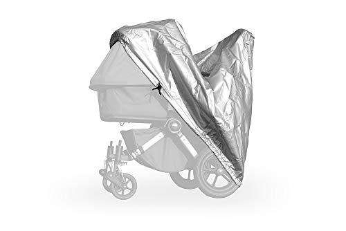 softgarage buggy alucush silber Abdeckung für Kinderwagen Emmaljunga NXT90 Regenschutz Regenverdeck