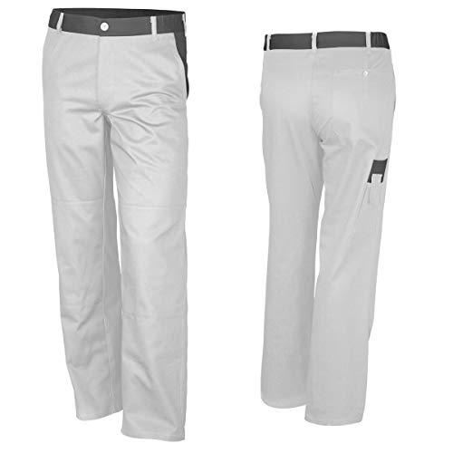QUALITEX Bundhose Weiß/Grau Arbeitshosen Malerhosen Baumwolle 66