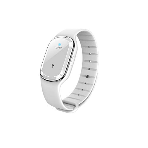 HongTeng Ultrasonic Mosquito Repellent Bracelet, Electronic Watch Mosquito Repellent, Waterproof, USB Charging, Suitable for Children and Adults Outdoor Mosquito Repellent (Color : White)