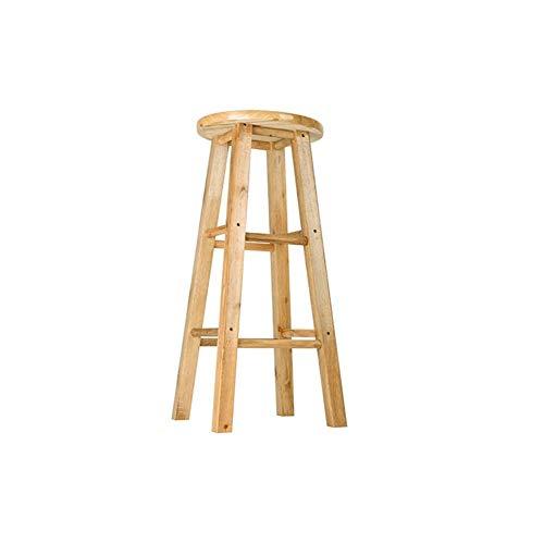 WWW-DENG barkruk, opstapkruk, houten ladder, opvouwbaar, model eikenhout, meerkleurig, kleur: hout, maat: 60
