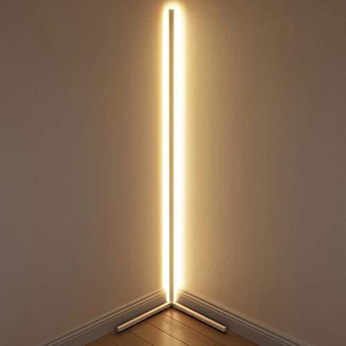JAKROO RGB Floor Lamp - Tripod Floor Lamp, LED Dimmable Floor Lamp - Modern Colour Changing Floor Lamp for Living Room Bedroom,Schwarz