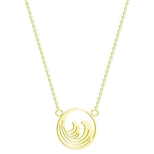 HJURTB Collar con Elegante Colgante de áfrica, Collar con Mapa geométrico Collar de Regalo de cumpleaños