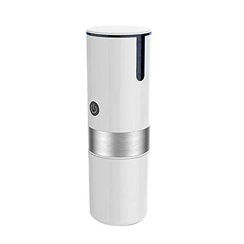 Walbest Portable Car Coffee Machine,USB Charging Electric Capsule Espresso Maker Travel Coffee Machine for Camping White
