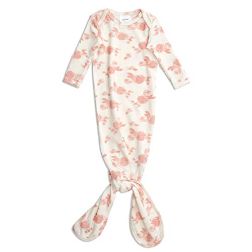 aden + anais przytulanka dzianinowa wiązana sukienka dla noworodka, super miękka i elastyczna, 0-3 miesiące, rozetki