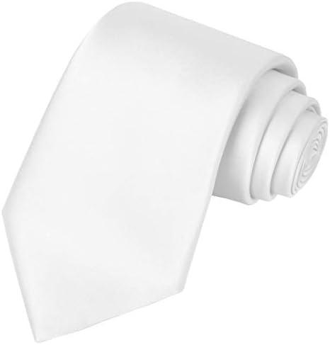 KissTies Boys Tie White Satin Necktie For Kids Boys Ties Gift Box product image