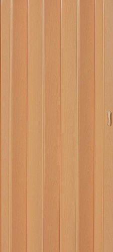 Falttür Schiebetür Tür buche farben mit Schloß/Verriegelung Höhe 202 cm Einbaubreite bis 96 cm Doppelwandprofil Neu TOP-Qualität p043-96