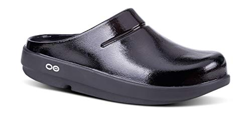 OOFOS - Unisex OOcloog - Arch Support & Impact Absorbing Ortho Comfort Clog Shoe - Black - M8/W10