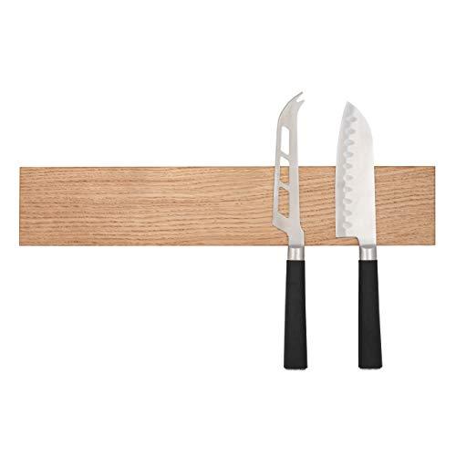 Syneline Magnetleiste Magnetische Messerleiste aus Holz Magnetischer Messerhalter Massive Eiche