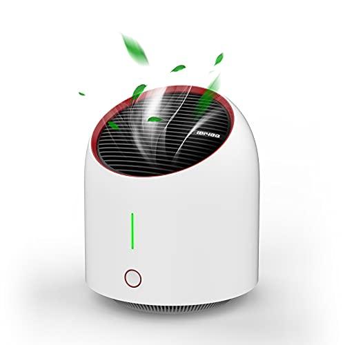 Luftreiniger Air Purifier mit Aktivkohlefilter,Leise Air Purifier für 99,9{f90123ef16b7dac1b1462c6e8eda020a236875a47a4675b52511d20b2066f76d} Filterleistung,Luftreiniger Allergie für Raucherzimmer Wohung,Tragbarer Luftreiniger Gegen Staub,Rauch,Pollen Tierhaare