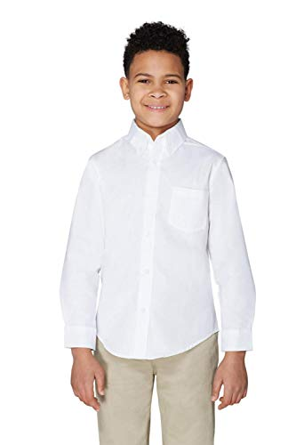 French Toast Little Boys' Long Sleeve Oxford Dress Shirt, White, 6