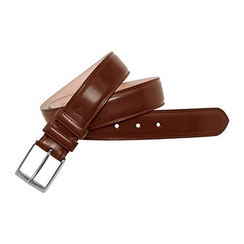 Leyva - Cinturón de piel de toro de hombre (105 cm)