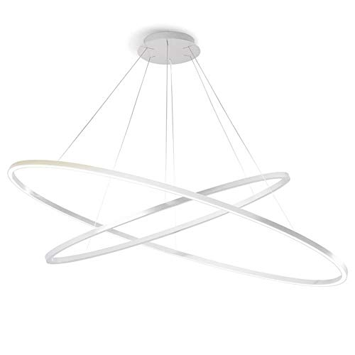 Nemo Lighting Ellisse Double Dimmer LED lampada a sospensione bianca