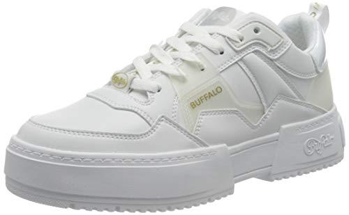 Buffalo Damen Low-Top Sneaker RSE V2, Damen Halbschuhe,schnürschuhe,schnürer,Halbschuhe,straßenschuhe,Freizeitschuhe,Weiß (White/Multi),39 EU / 6 UK