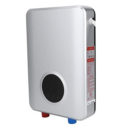 Scaldabagno elettrico, Scaldabagno elettrico intelligente da 5500 W, Touch screen Riscaldamento istantaneo Protezione anti-perdite integrata per la cucina del bagno di casa